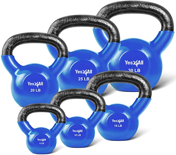 Yes4All Vinyl Coated Kettlebell Weight Sets